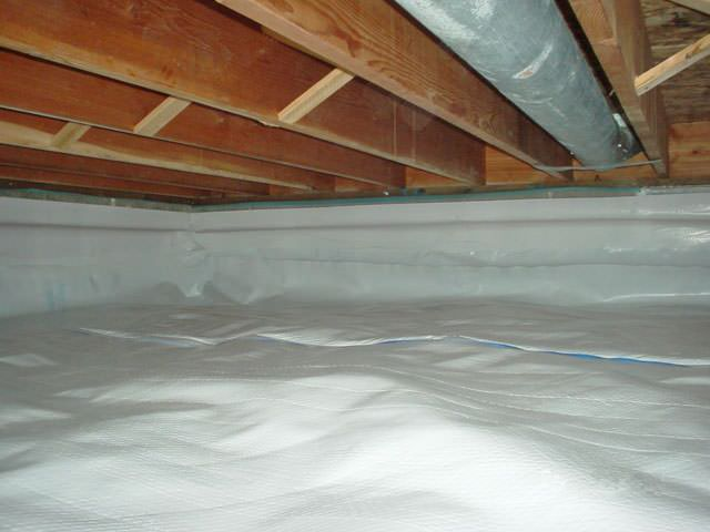 A Moisture Barrier Installed On The Walls And Floors Of Crawl E In Canton