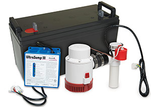 a battery backup sump pump system in Canton
