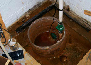 Extreme clogging and rust in a Canton sump pump system